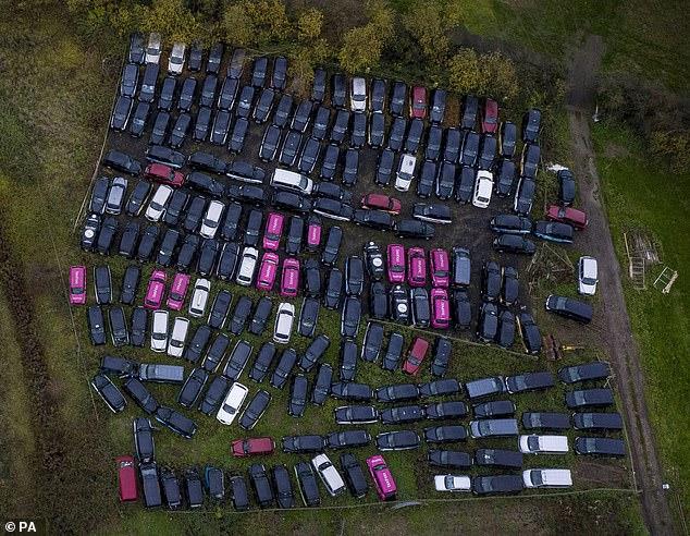 Taxi-urile londoneze zac pe câmpuri, din lipsă de clienţi