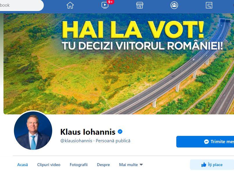 Klaus Iohannis, apel la români cu o seară înaintea alegerilor. Îndemnul la vot scris cu fontul și culorile PNL
