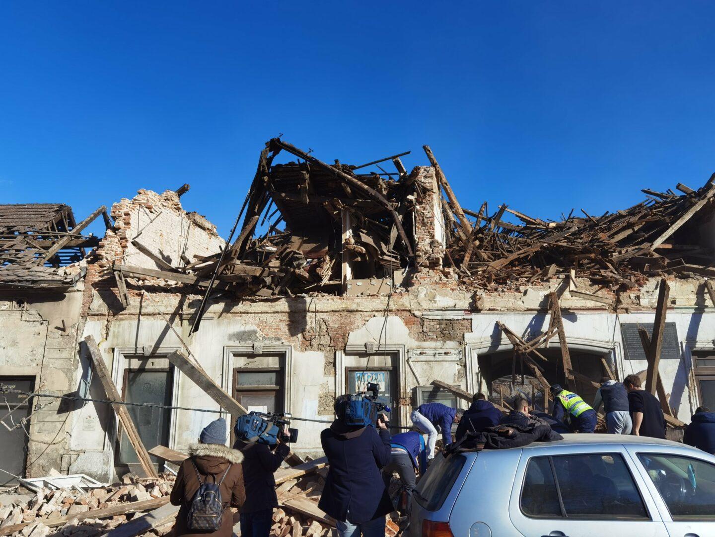 Imagine din Zagreb, după cutremur