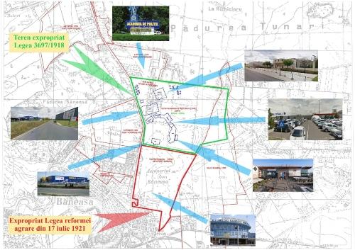 Harta zonei Băneasa