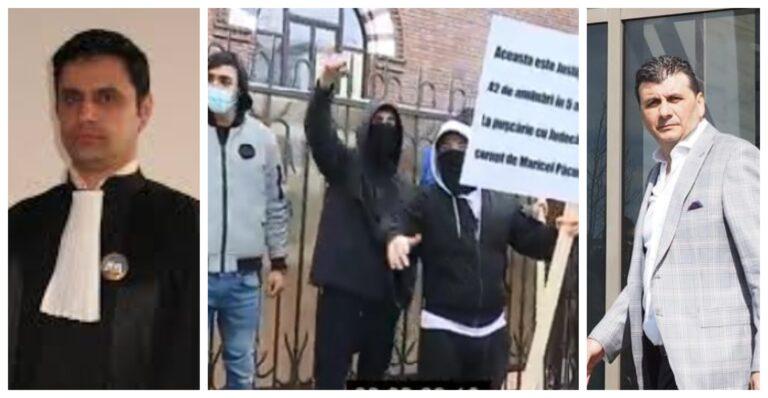 Protest fata de abuzurile făcute de mogulul Maricel Păcuraru şi magistratul Cătălin Oprea care amână judecarea procesului său