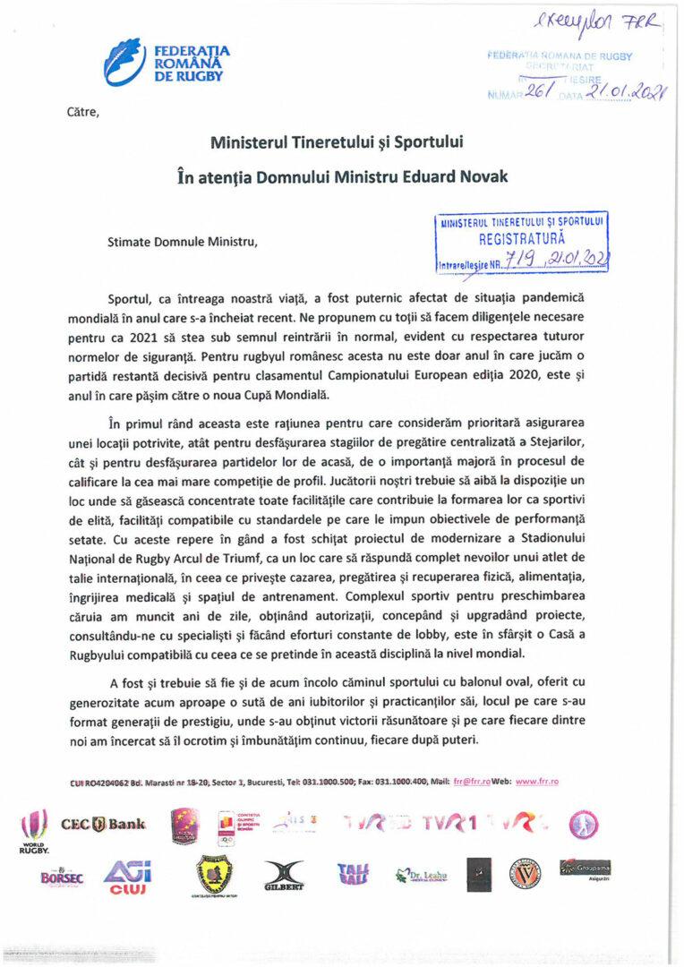 Documentul doveditor trimis de FRR