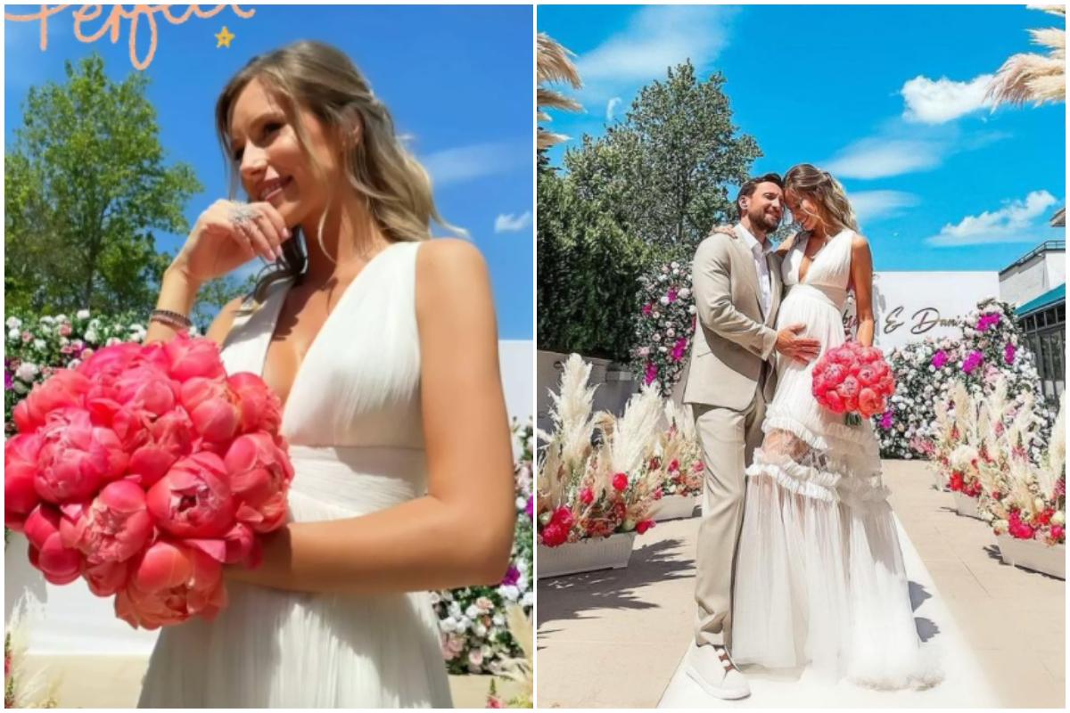 Dani Oţil şi Gabriela Prisăcariu s-au căsătorit. Primele imagini de la nuntă. GALERIE FOTO