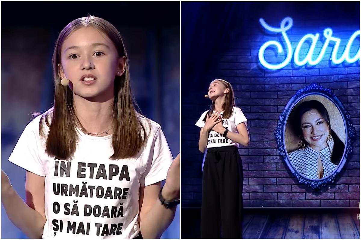 Românii au talent 2021. Cine este Sara Șmighelschi, micuţa care îi ia la roast pe juraţi