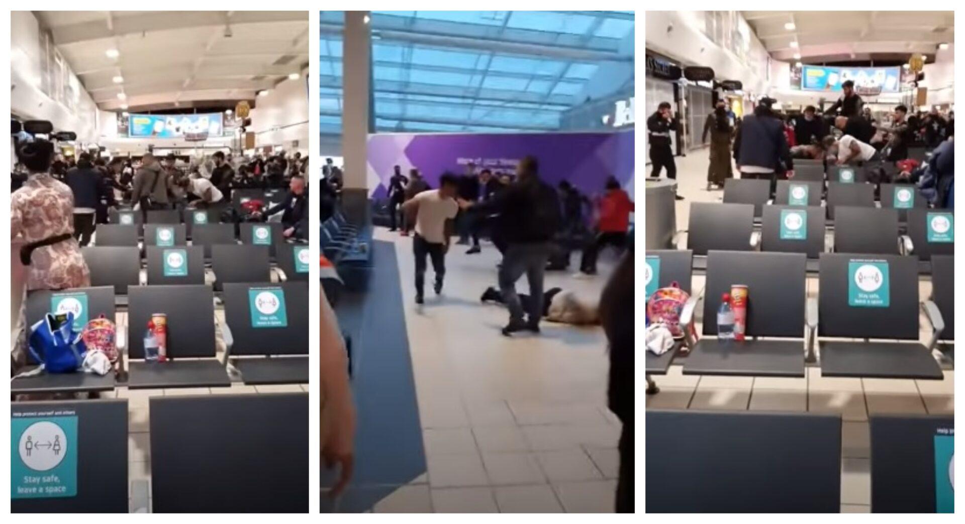 Bătaie cu români în aeroportul din Luton
