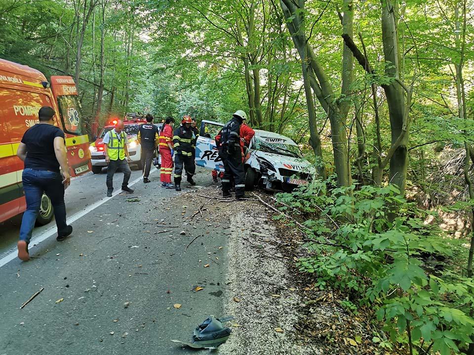 Accident la Raliul Clujului