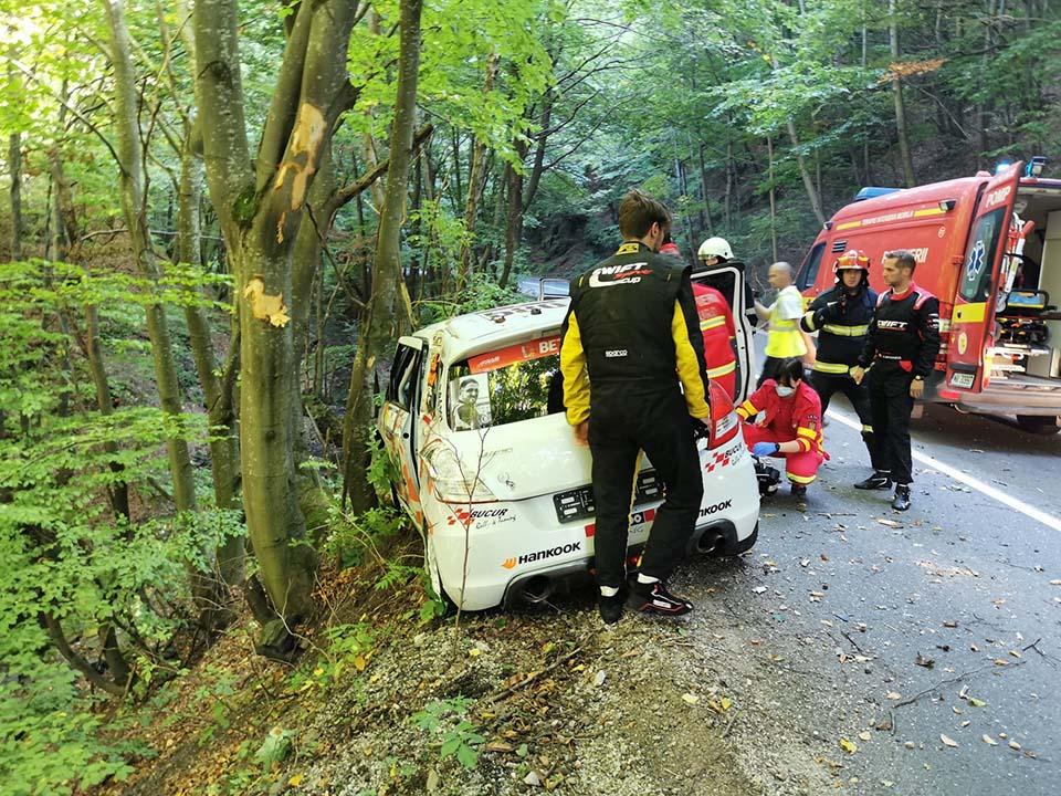 Maşina lui Radu Lambrino a ieşit în decor
